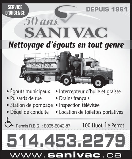 Ads Sani Vac Inc