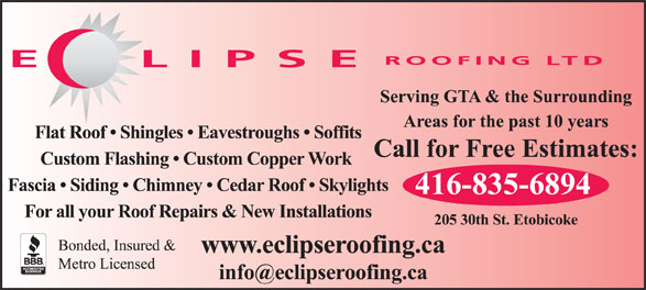 Ads Eclipse Roofing