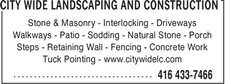 Ads City Wide Landscaping And Construction