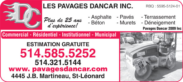 Ads Les Pavages Dancar Inc