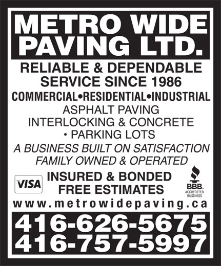 Ads Metro Wide Paving Ltd