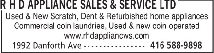 Ads R H D Appliance Sales &amp; Service Ltd