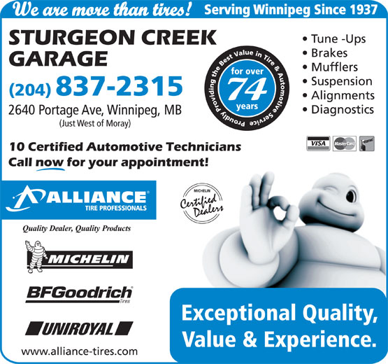 Ads Sturgeon Creek Garage