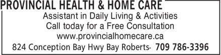 Ads Provincial Health & Home Care