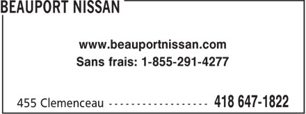 Ads Beauport Nissan
