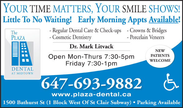 Ads The Plaza Dental at Midtown