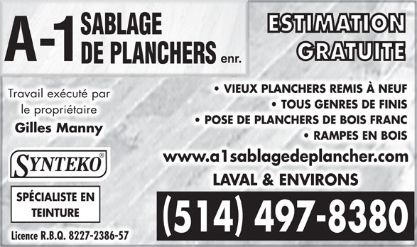 Ads A-1 Sablage De Planchers Enr