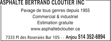 Ads Asphalte Bertrand Cloutier Inc