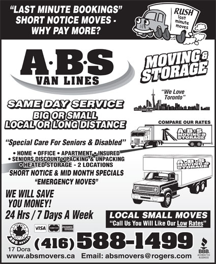 Ads A ABS Movers & Storage