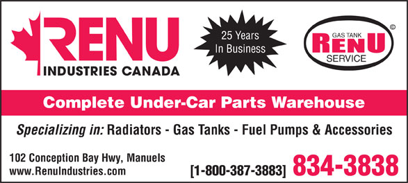 Ads RENU Industries Canada