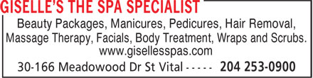 Ads Giselle's The Spa Specialist