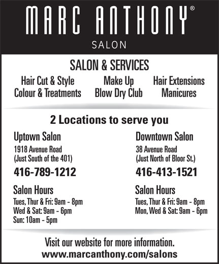 Ads Marc Anthony Salon