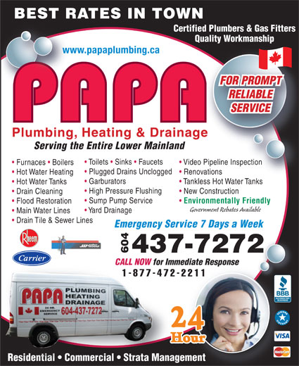 Ads PAPA Plumbing Heating & Drainage