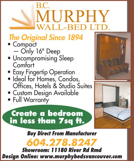 Ads Murphy Wall-Bed Co