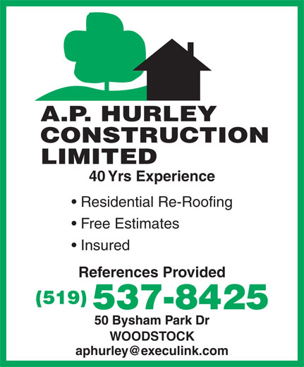Ads Hurley A P Construction