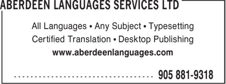 Ads Aberdeen Languages Services Ltd