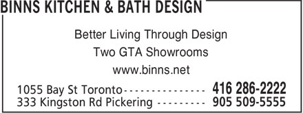 Ads Binns Kitchen & Bath Design