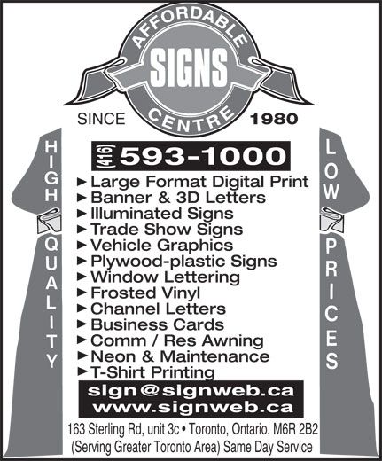 Ads Affordable Signs Centre