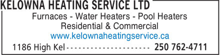 Ads Kelowna Heating Service Ltd