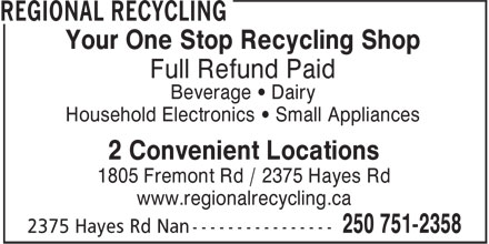Ads Nanaimo Bottle Depot