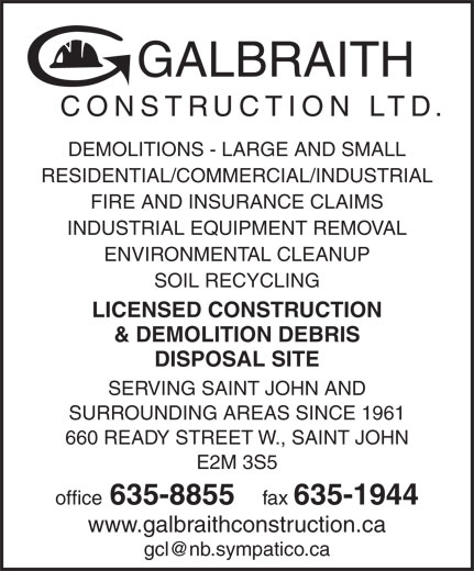 Ads Galbraith Construction Ltd - Facsimile Service