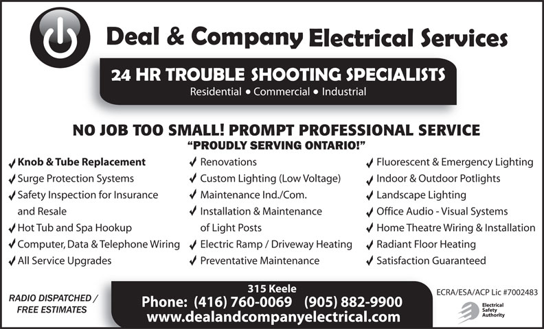 Ads Deal & Company Electrical Services