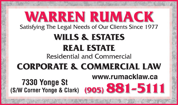 Ads Warren Rumack