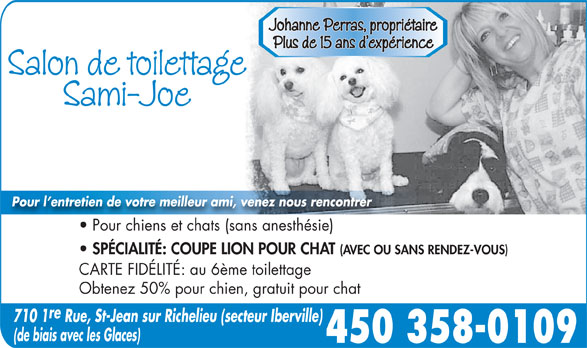 Ads Salon de Toilettage Sami-Joe
