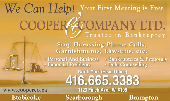Ads Cooper & Company Ltd-Trustees In Bankruptcy