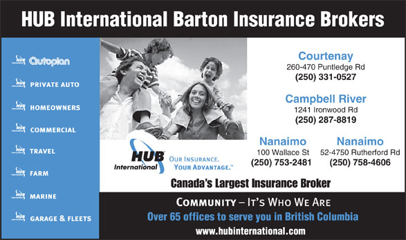 Ads HUB International Barton Insurance Brokers