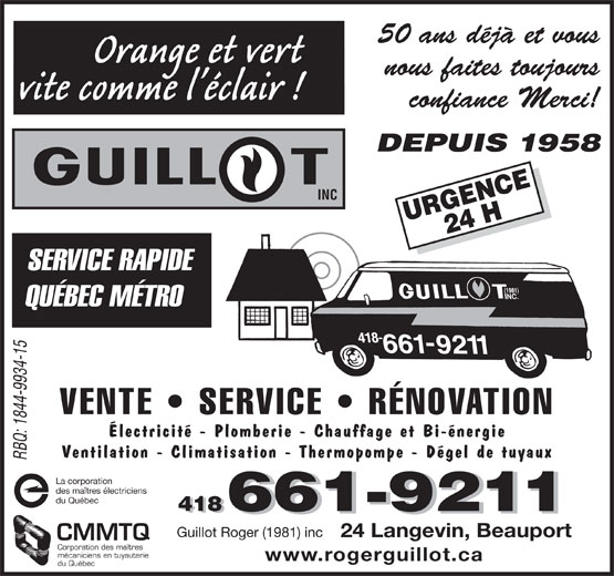 Ads Guillot Roger (1981) Inc