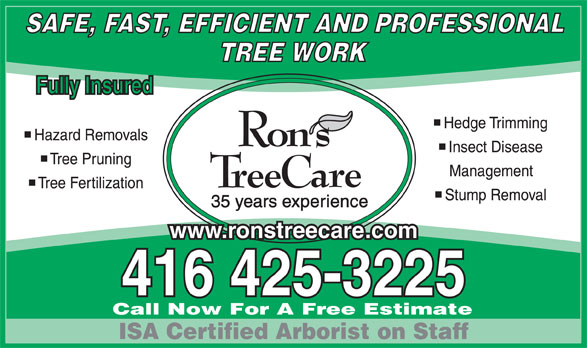 Ads Ron's Tree Care