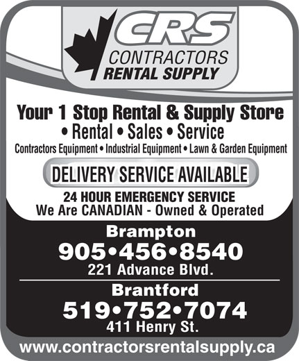 Ads CRS Contractors Rental Supply