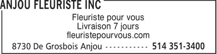 Ads Anjou Fleuriste Inc