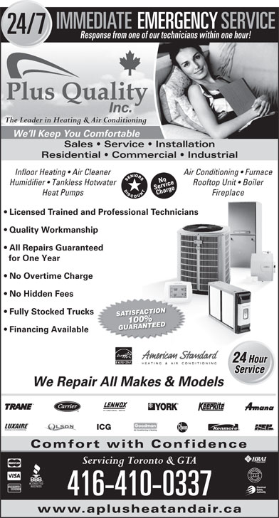 Ads A Plus Quality - Heating and Air Conditioning