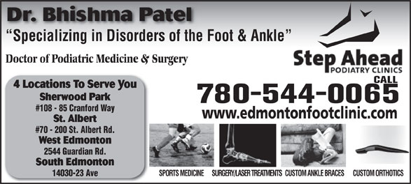 Ads Step Ahead Podiatry Clinic