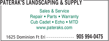 Ads Paterak's Landscaping & Supply