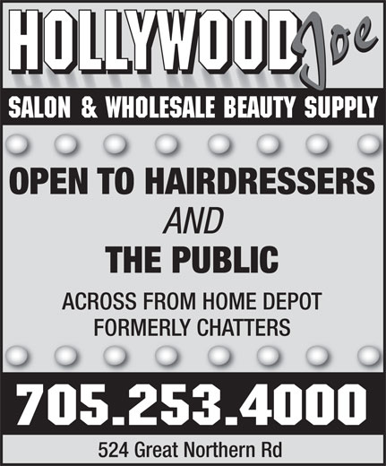 Ads Hollywood Joe Salon & Wholesale Beauty Supply