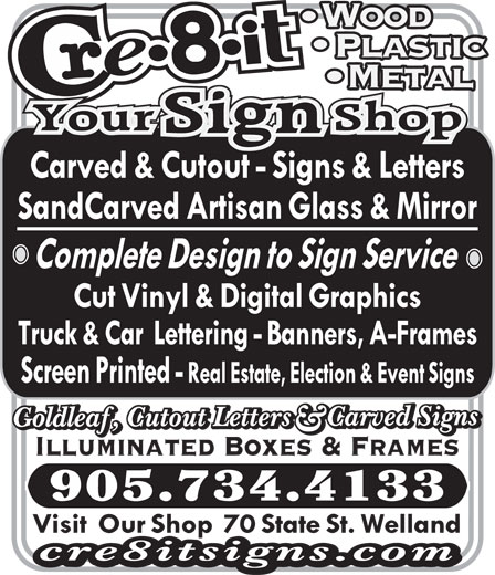 Ads Cre-8-it Your Sign Shop