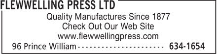 Ads Flewwelling Press Ltd - Facsimile Service