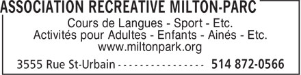 Ads Association Récréative De Milton Park