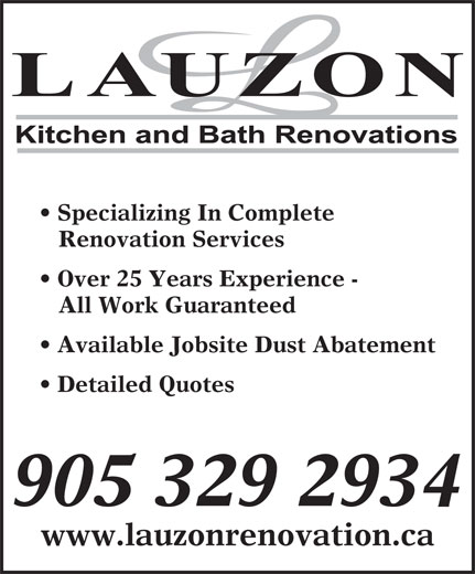 Ads Lauzon Kitchen & Bath Renovation