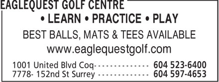 Ads Eaglequest Golf Centre