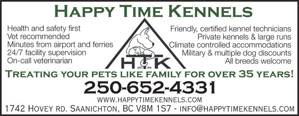 Ads Happy Time Kennels