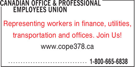 Ads Canadian Office & Professional Employees Union