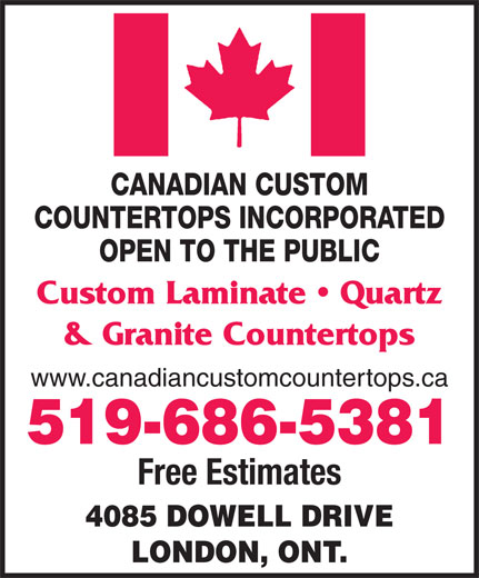 Ads Canadian Custom Countertops Inc