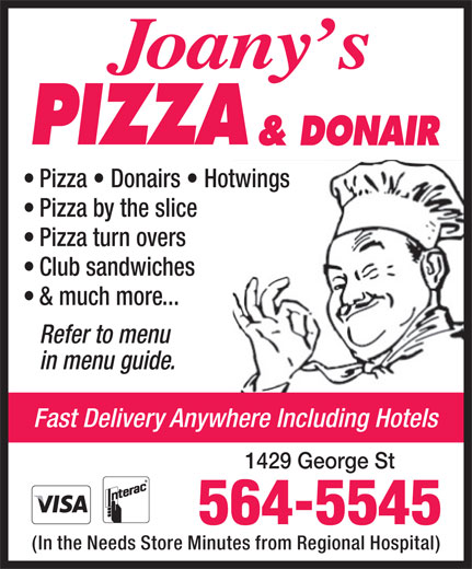 Ads Joany's Pizza & Donair