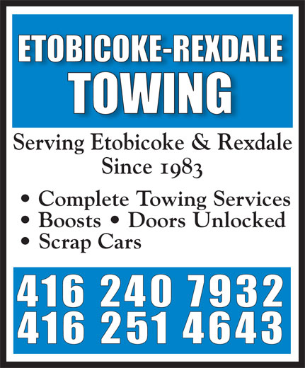 Ads Etobicoke - Rexdale Towing