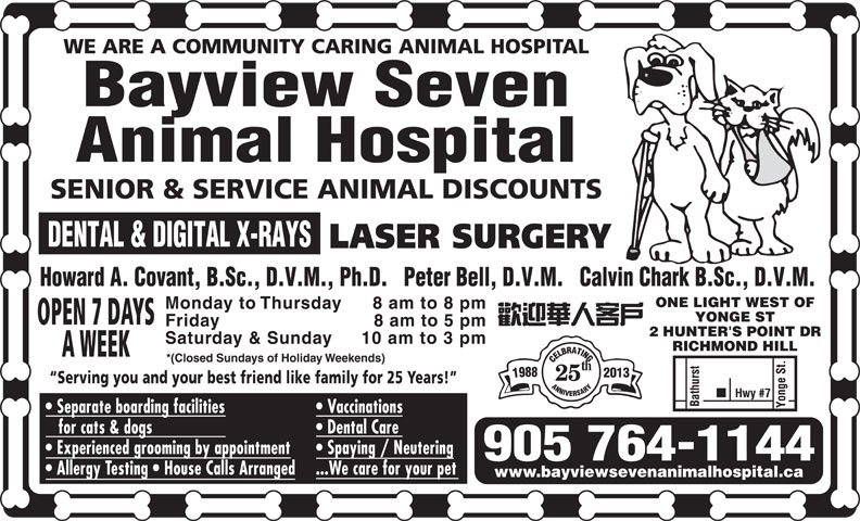 Ads Bayview Seven Animal Hospital