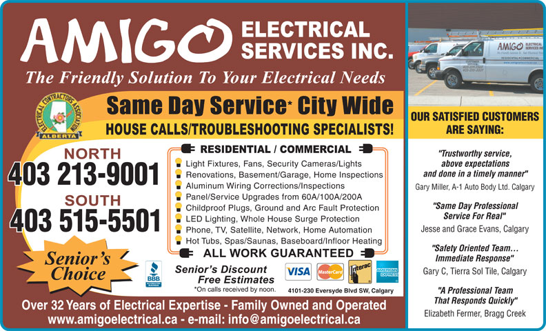 Ads Amigo Electrical Services Inc - South